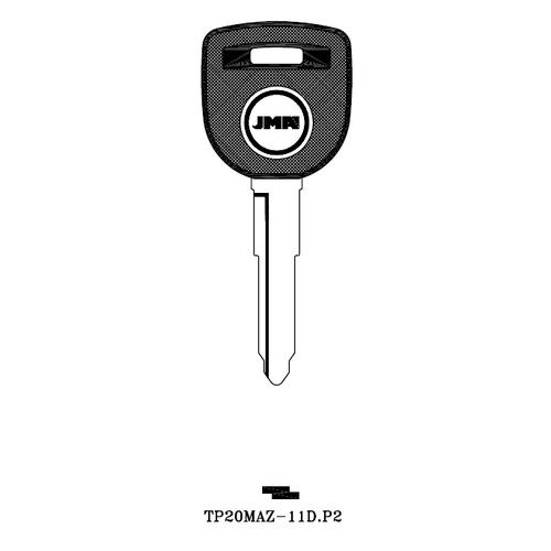 JMA TP20MAZ-11D.P2 Transponder Key Blank; Mazda