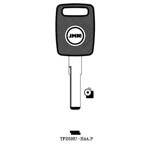 JMA TP25HU-HAA.P Transponder Key Blank; Audi, Porsche, Volkswagen