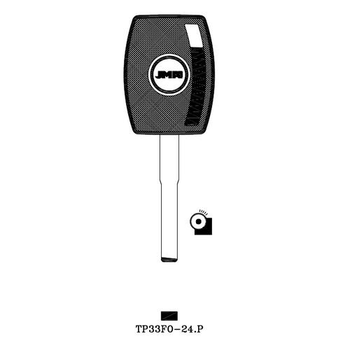 JMA TP33FO-24.P Transponder Key Blank; Ford