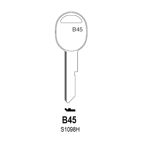 Taylor by Ilco B45 (S1098H, B45-P) Key Blank : General Motors