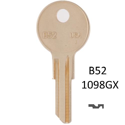 Taylor by Ilco B52 (1098GX) Key Blank : Gas Cap Lock