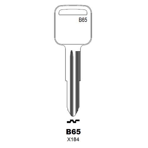 Taylor by Ilco B65 (X184, B65-P) Key Blank : Geo, Honda, Isuzu