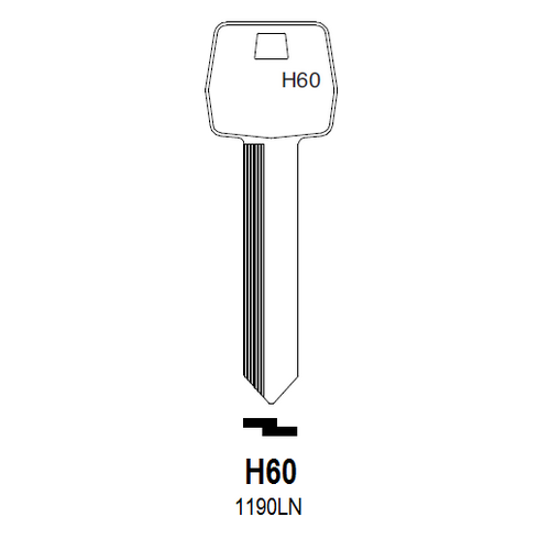 Taylor by Ilco H60 (1190LN) Key Blank : Ford