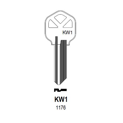 Taylor by Ilco 1176, KW1 Key Blank : Kwikset - 1063