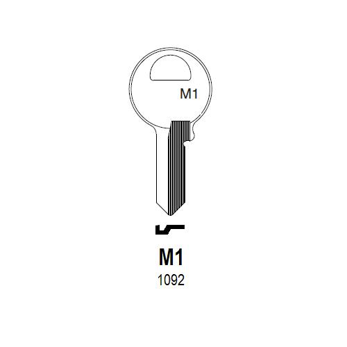 Taylor by Ilco 1092, M1 Key Blank 250 Box : Master