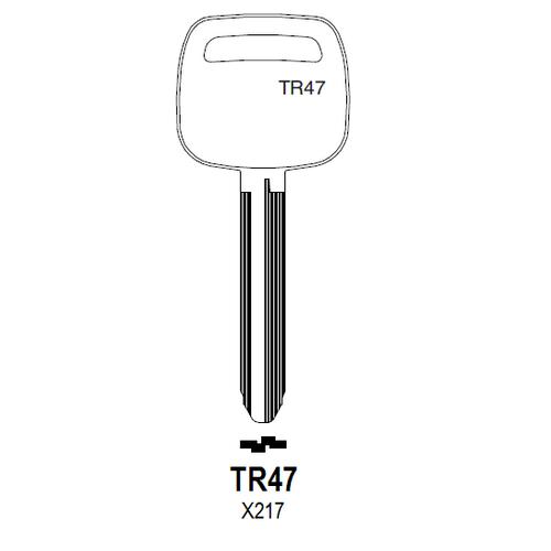 Taylor by Ilco TR47 (X217, TR47-P) Key Blank : Toyota