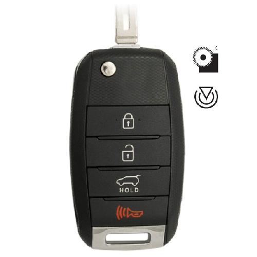 Ilco 4FLIP-KIA-4B1 KIA 4 Button Flip Key Remote (NYODD4TX1306-TFL)