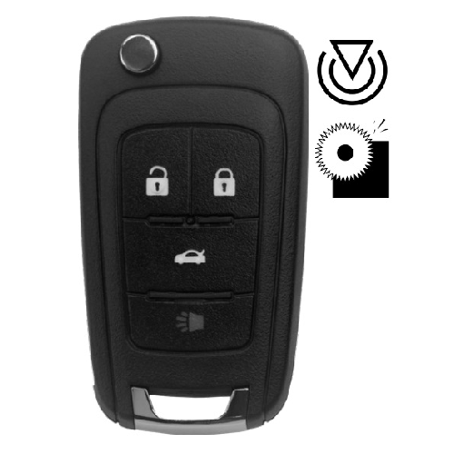 Ilco FLIP-GM-4B1HS General Motors Flip Key Remote