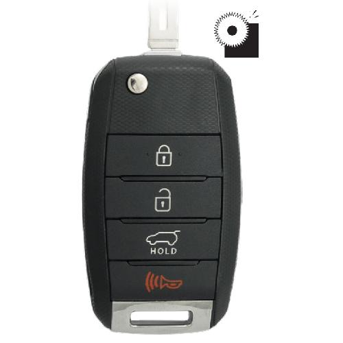 Ilco FLIP-KIA-4B2 KIA 4 Button Flip Key Remote - DISCONTINUED  - Use FLIP-KIA-4B3